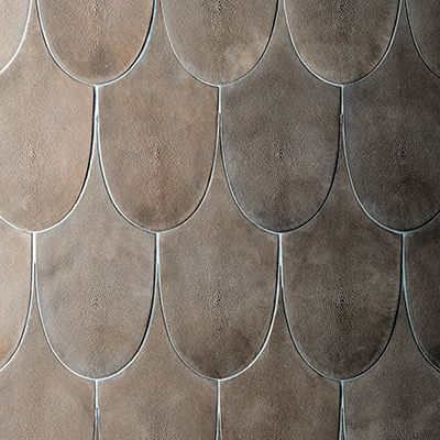 Decorum est tile collections slumped glass verre eglomise fishskin tiles snakeskin