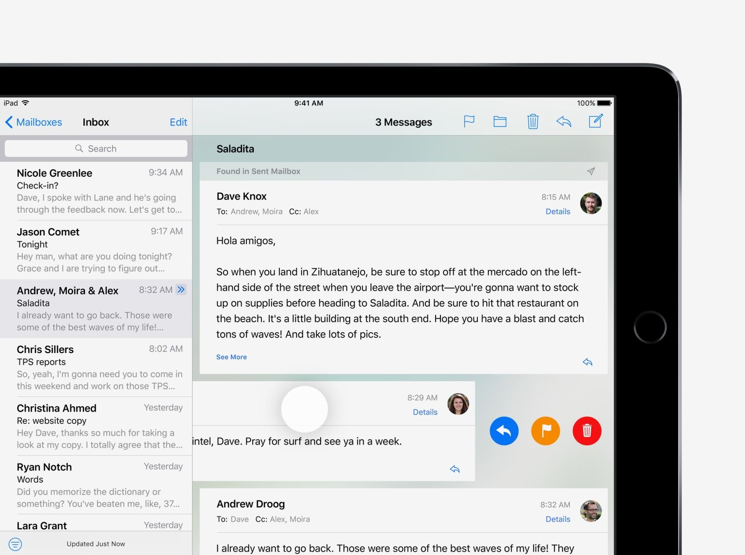 Quickly manage mail - iOS 10 Tips and Tricks for iPad - Apple