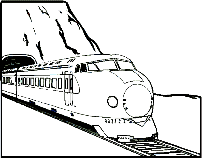The Train Out Of The Tunnel Coloring Pages Transportation Coloring Pages Kidsdrawing Free Coloring Pages Online