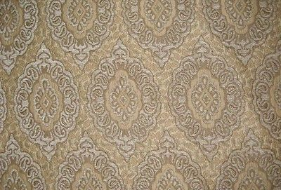 """Natural Oval Chenille Upholstery Drapery fabric by the yard 57"""" Wide"""