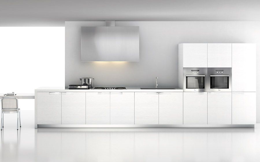 Moderne Kuche X2f Laminat X2f Lackiert Ecletica 03 Elmar Cucine Kitchen Inspiration Modern White Contemporary Kitchen White Modern Kitchen