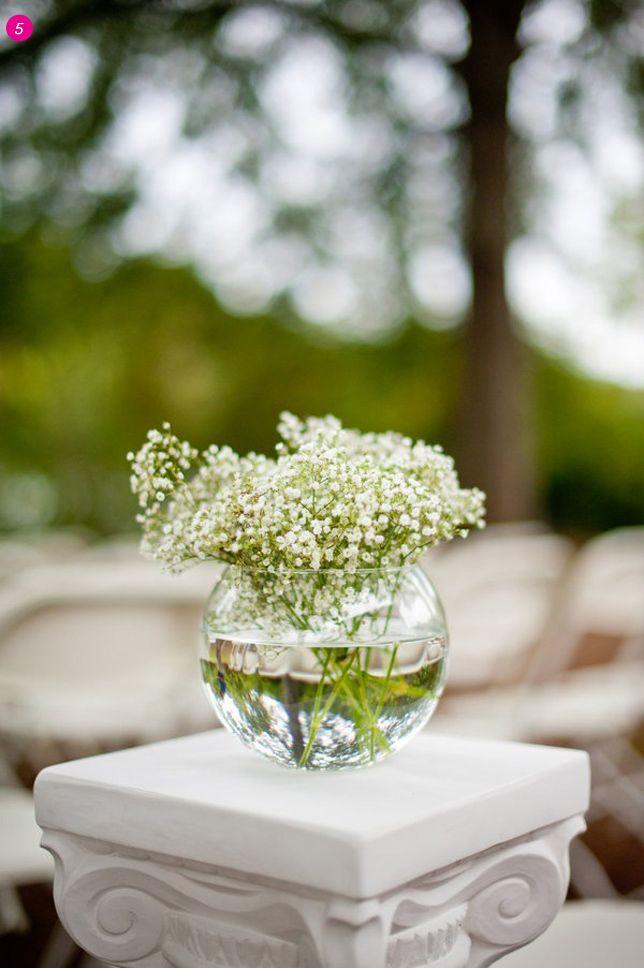 Finishing Touches Babys Breath Wedding Flowers Pinterest