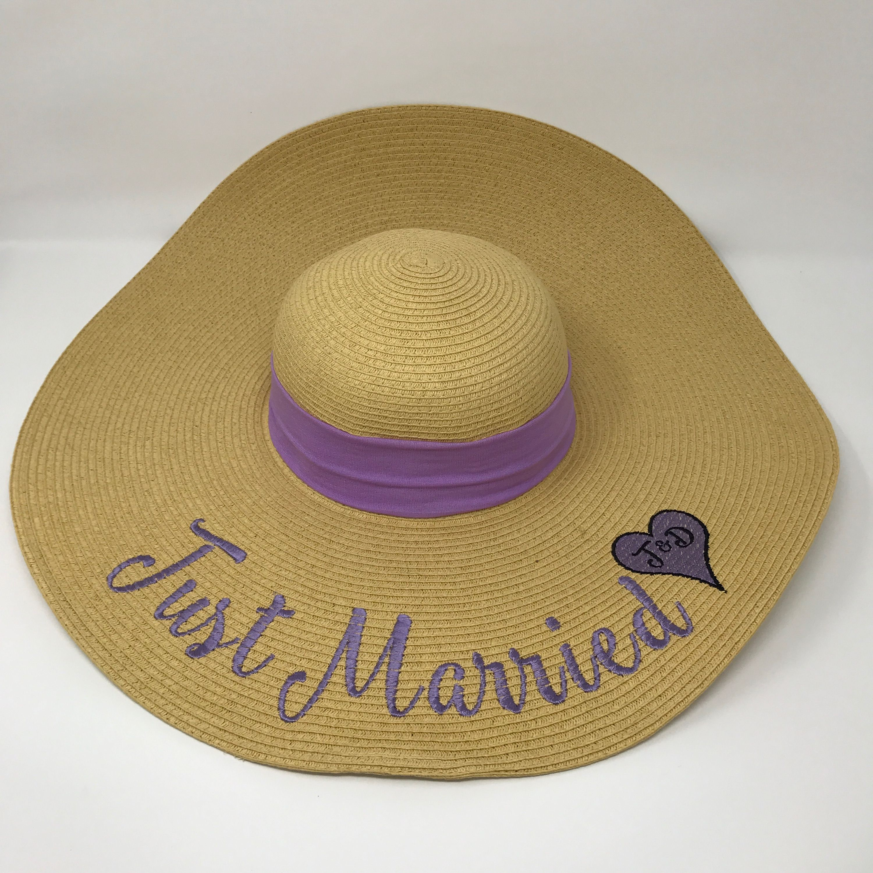 f6e77b7b3ab83 Just Married Embroidered Floppy Beach Hat Etsy Store  MagnoliaStitchDesign