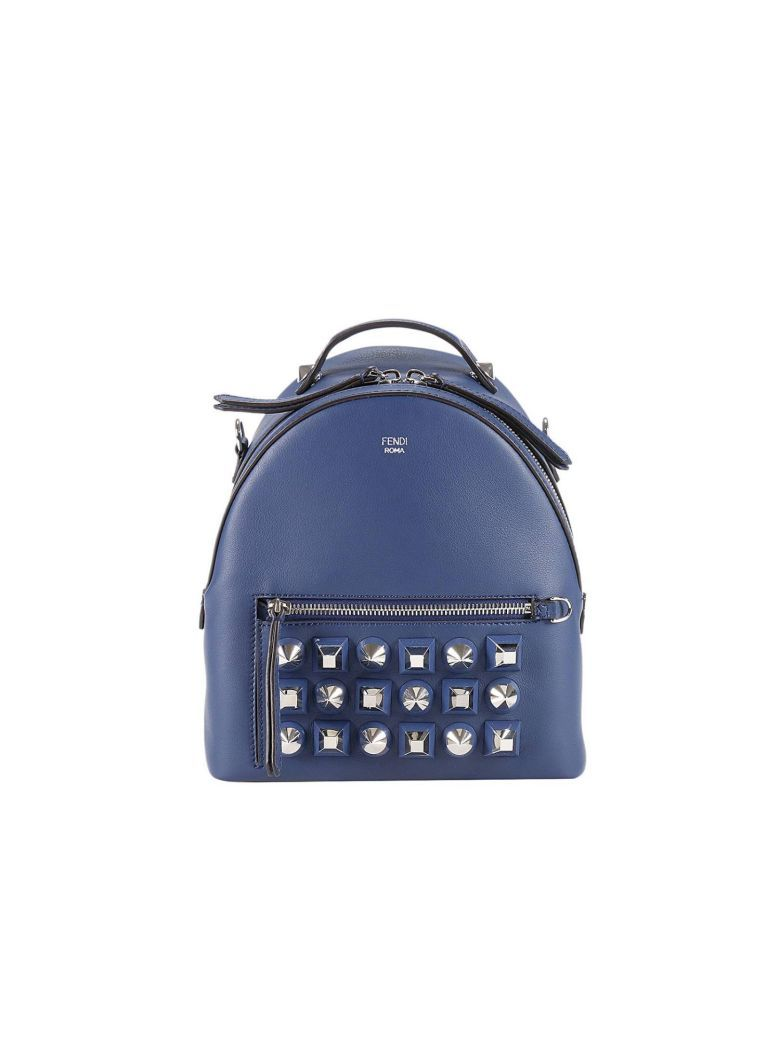 bb4ac0a077 Best price on the market at italist.com Fendi blue BACKPACKS ...