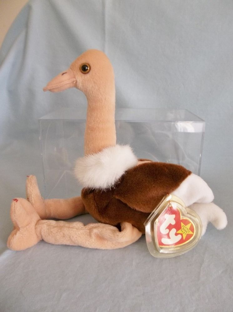 c645bca852a Retired 1997 Ty Beanie Babies Stretch Ostrich Rare No  Tag ...