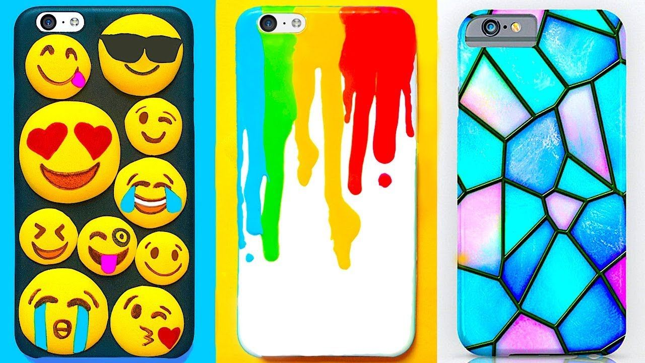 6 Diy Phone Cases Easy Cute Phone Projects Iphone Hacks Diy Phone Diy Phone Case Phone Project