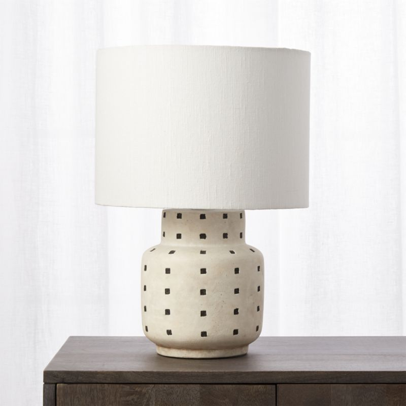 Grid Black And White Polka Dot Table Lamp Reviews White Table
