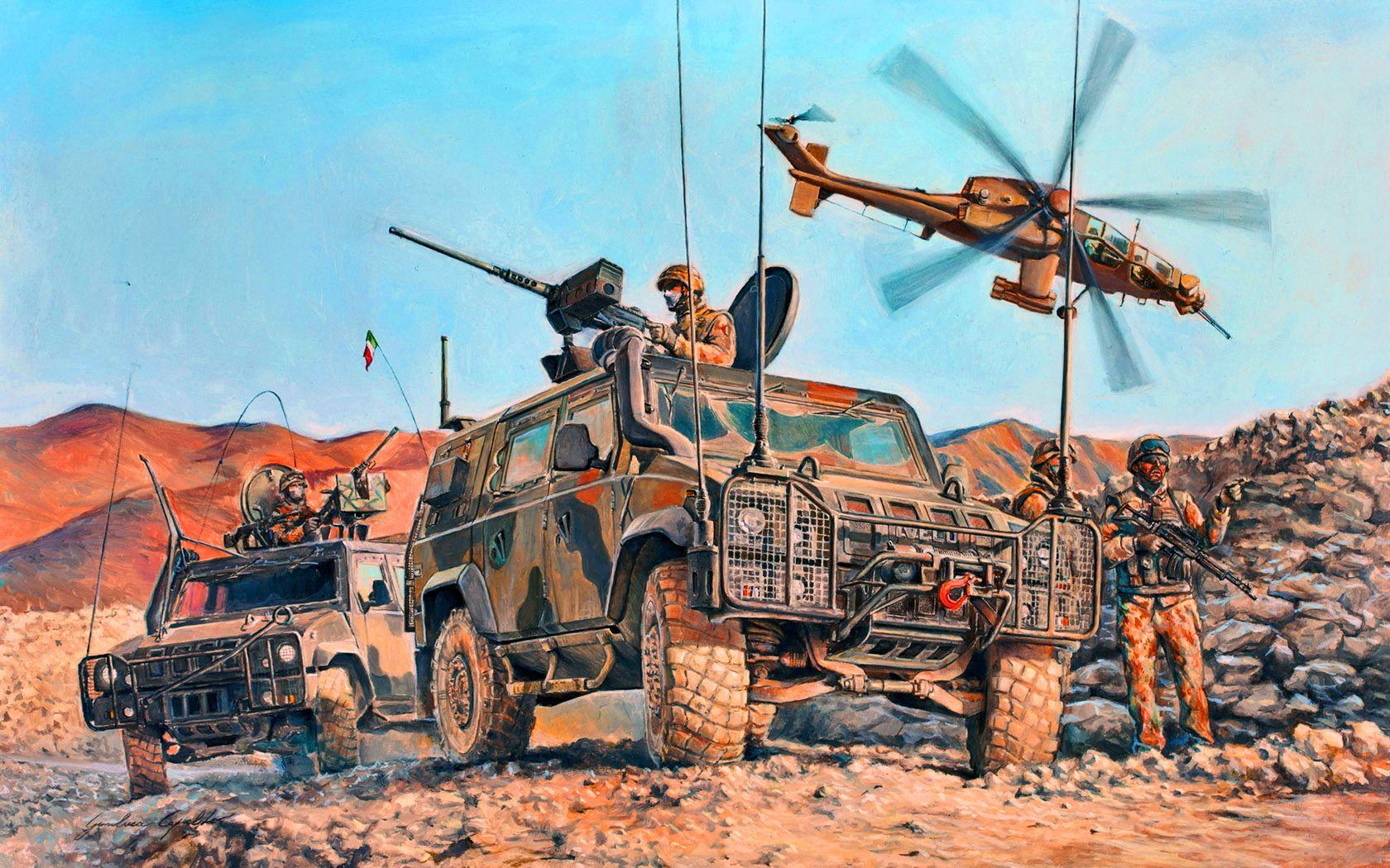 Italian Troops In Iraq Military Illustration Military Artwork War Art