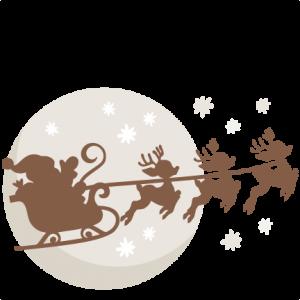 Christmas Eve Santa SVG scrapbook cut file cute clipart files for ...