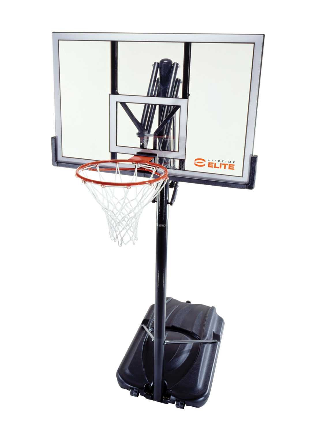 71284 Lifetime Portable Basketball System Elite Features A Clear 52 X 33 X 1 Steel Framed Shatter Proof Backboard Basketball Systems Cover Gray Shatter