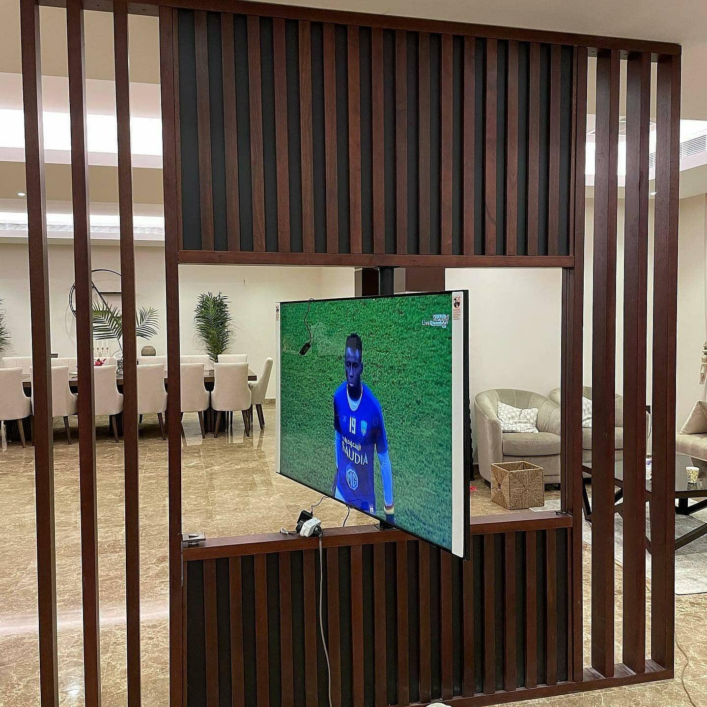 خلفية تلفزيون متحرك ديكور تلفزيون ديكور شاشه متحركه طلتواصل الرياض 0535711713 Home Home Decor Decor