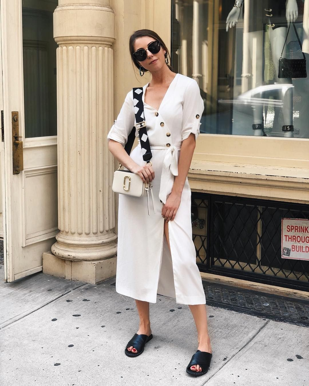aedc9b63b2 Erin Moroz spotted with our Marc Jacobs Snapshot Bag in Cloud White ...
