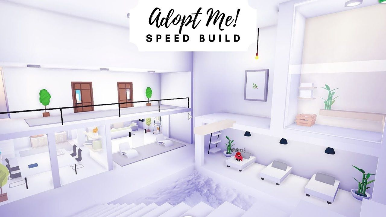 Modern Futuristic Home Speed Build Part 2 Roblox Adopt Me Youtube Futuristic Home My Home Design Home Roblox