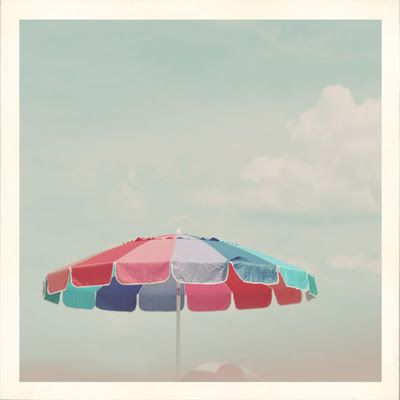 Summer is colorful beach umbrellas.  Via: Absolutely Beautiful Things