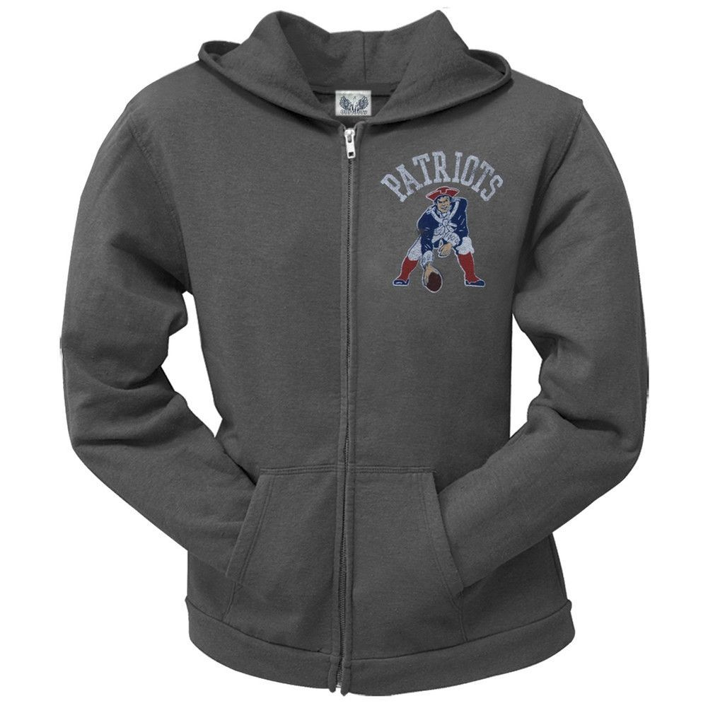 4a7f2cd27 New England Patriots - Old School Logo Juniors Hoodie