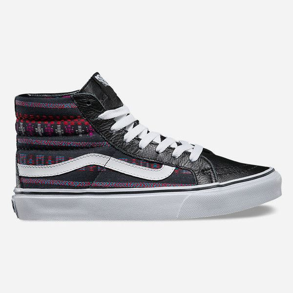 Vans Guate Stripe SK8-Hi Slim Womens Shoes ( 65) ❤ liked on Polyvore  featuring shoes dd685e0db