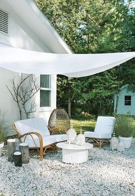 White outdoor lounge area Home Things Pinterest Terrazas