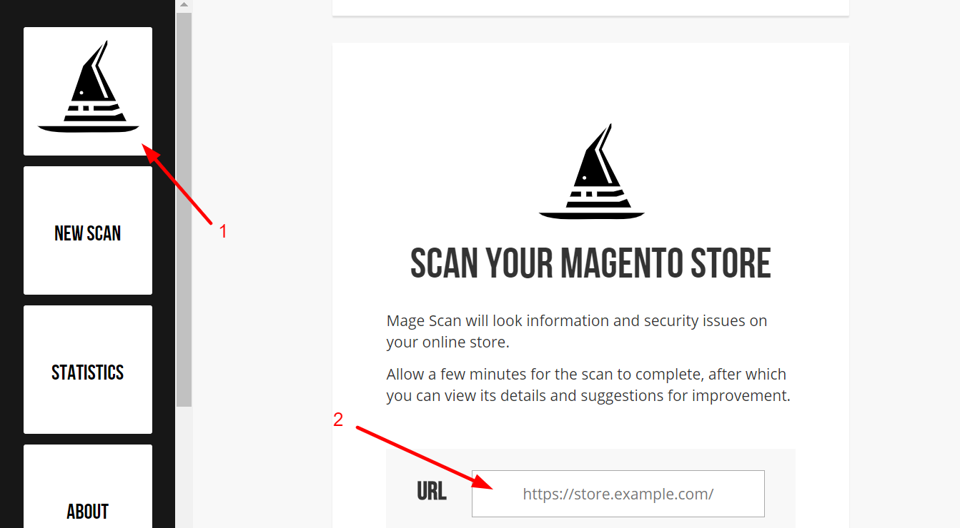 check magento version by magescan.com