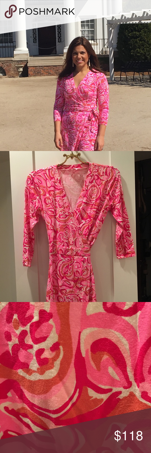 01ee9020e95 Lilly Pulitzer Karlie Romper in Pink Mango Salsa Super fun pink and white  romper from Lilly Pulitzer s Resort 2016 collection.