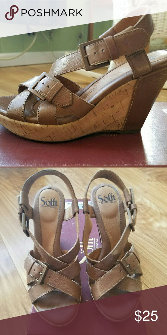 Sandals by Sofft Really cute, only worn once! Sofft Shoes Wedges