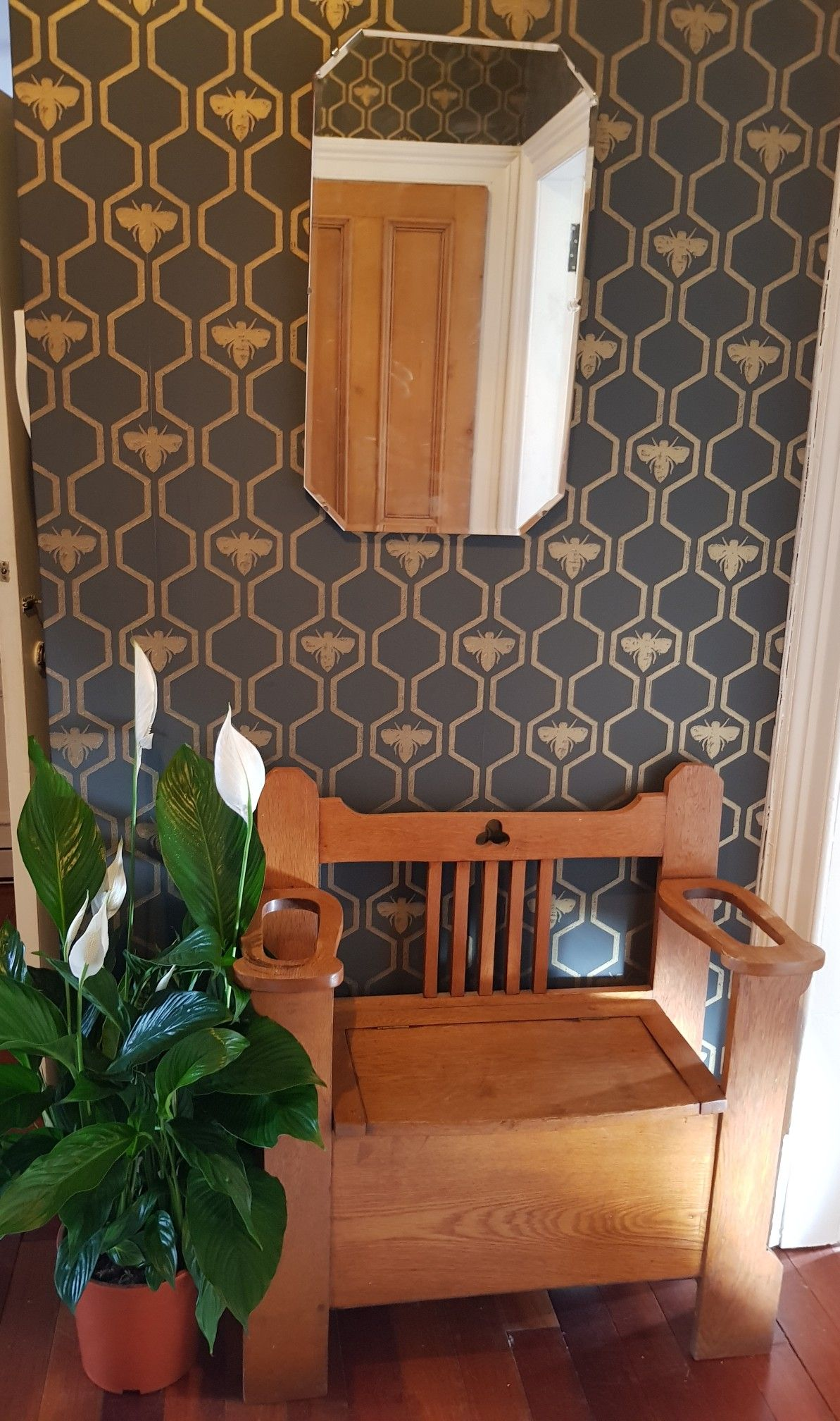Wallpaper on hallway  My hallway is finished with Barneby Gates wallpaper and an Arts and