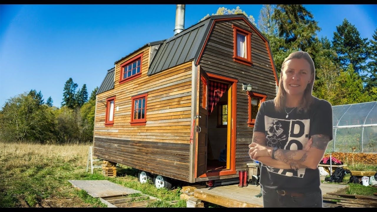 Woman Builds Unique Tiny House Using Recycled Materials In