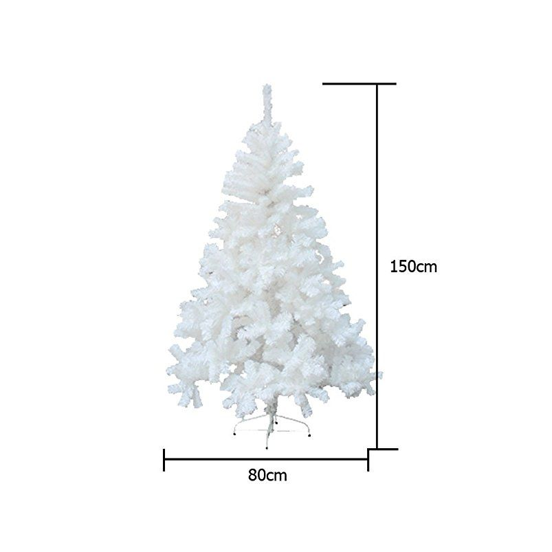 Weihnachtsbaum Künstlich Aussen.Hg 150cm Weiß Weihnachtsbaum Künstliche Tanne Zweige