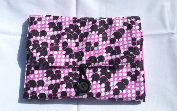Pink Black and White Bubble Fabric Travel by babygirlscreations, $20.00