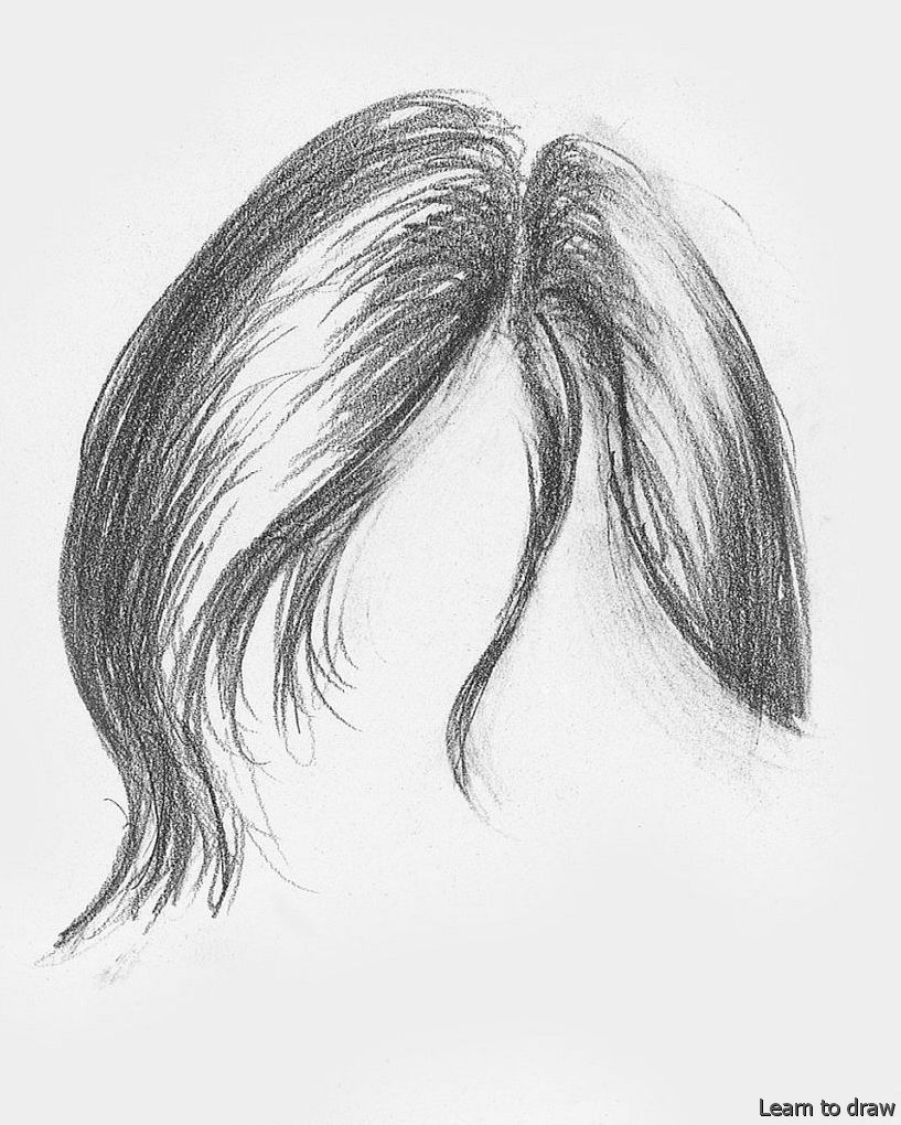 Pencil Shading Drawing In 2020 How To Draw Hair Drawing Hair Tutorial Pencil Drawing Tutorials