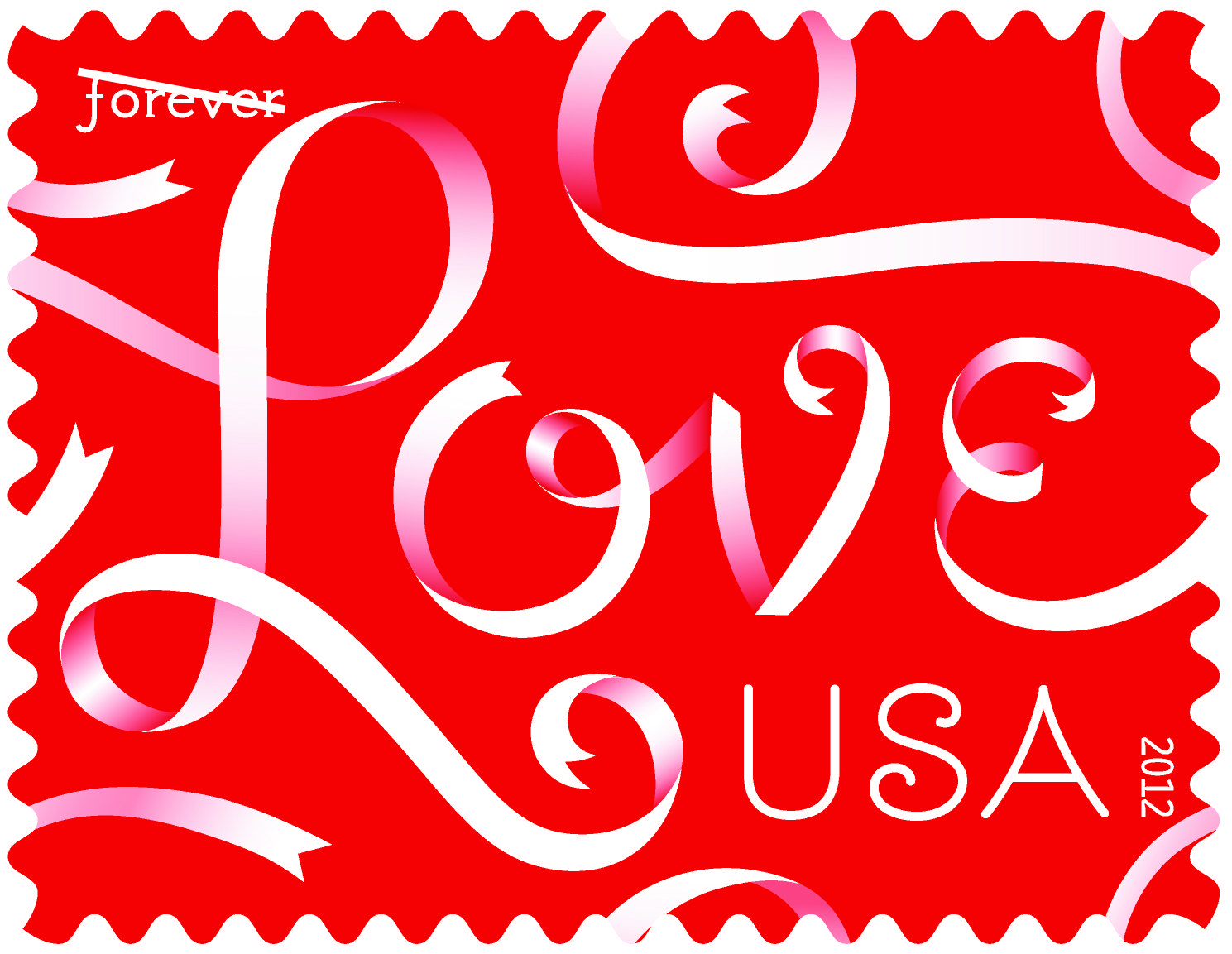 Evoking images of romance and elegance, the 2012 Love stamp features ...