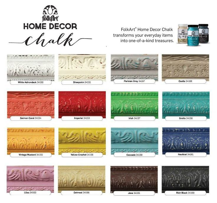 Plaid Folk Art Chalk Paint Colors Paint Color Chart Chalk Paint Colors Folkart Chalk Paint