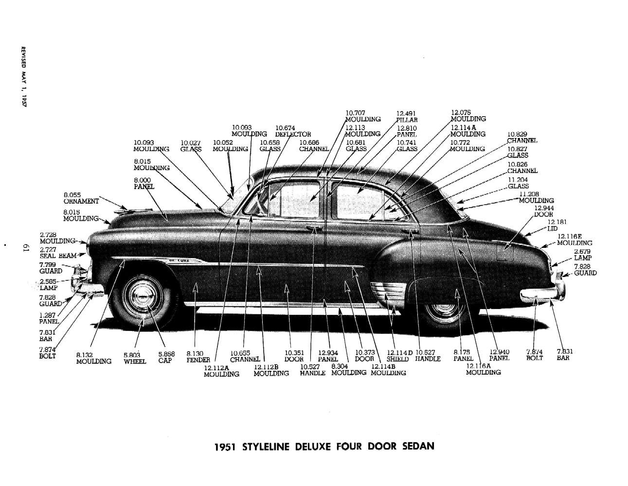 Coupe 1951 chevy coupe parts : 1951 Chevrolet Master Parts & Accessories Catalog | Chevrolet Full ...