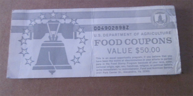 40 usda food coupons real vintage food stamps