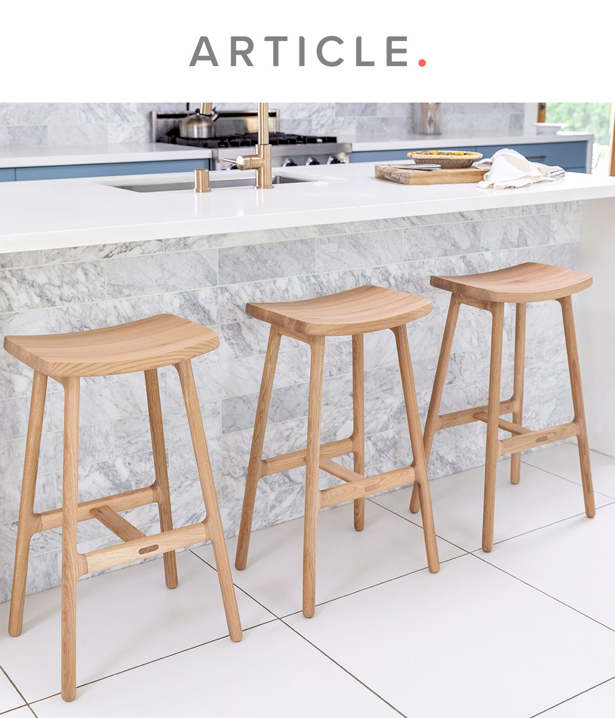 Esse Light Oak Counter Stool in 9   Counter stools, White ...