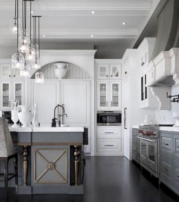 24 Grey Kitchen Cabinets Designs Decorating Ideas: Beautiful Gray Kitchen Cabinet Design Ideas