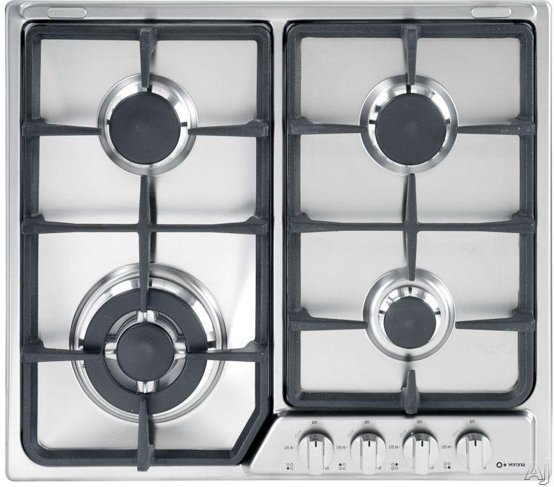 Verona Vegct424fss Gas Cooktop Iron
