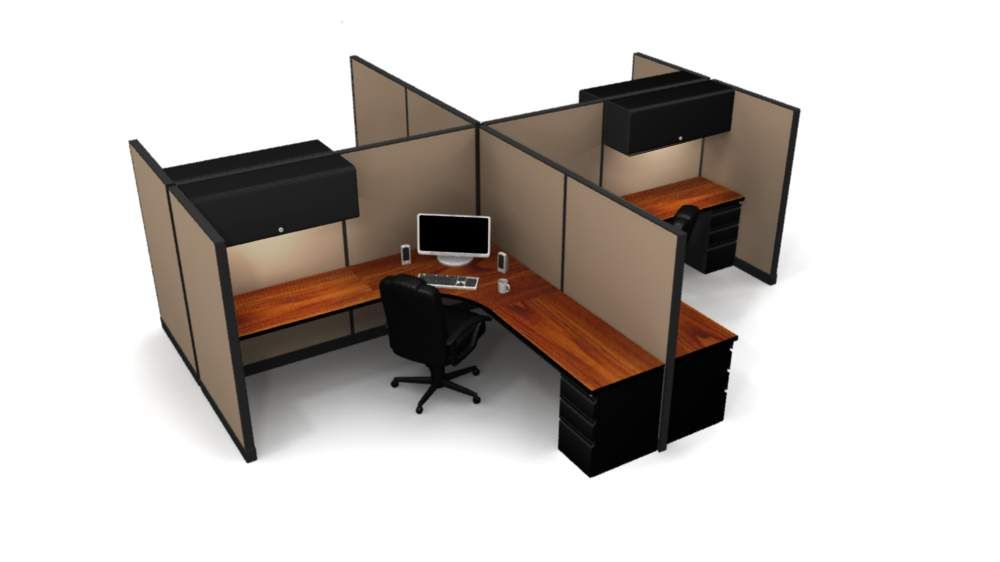 4 Steelcase Stations With An Open Layout Open Layout Home