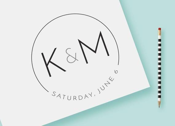 Customized Wedding Monogram Logo Diy Initials Sleek And Modern
