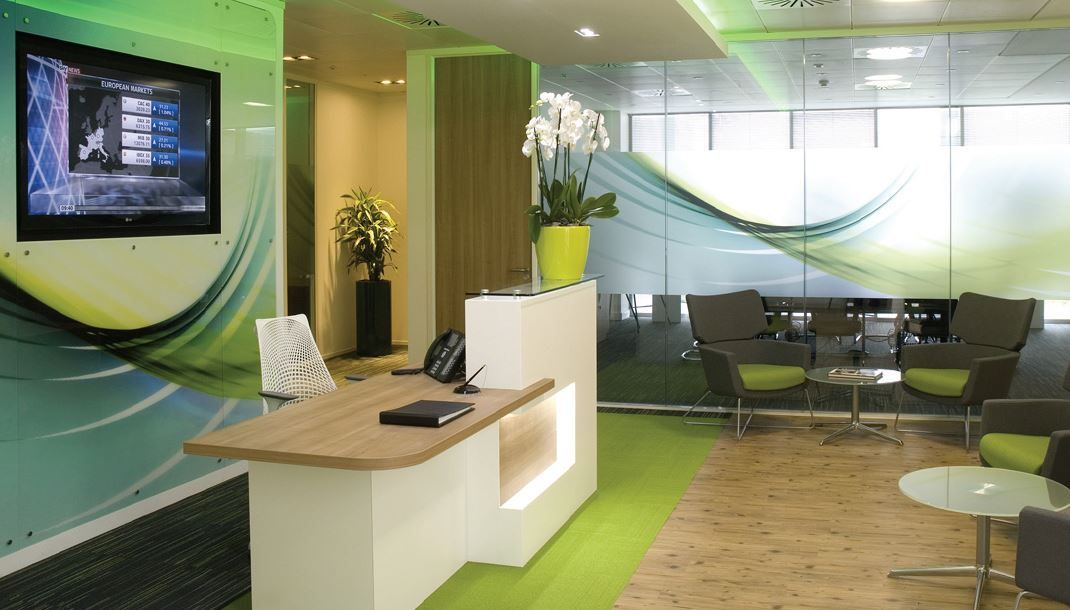Creative reception areas yahoo search results office for Modern office area