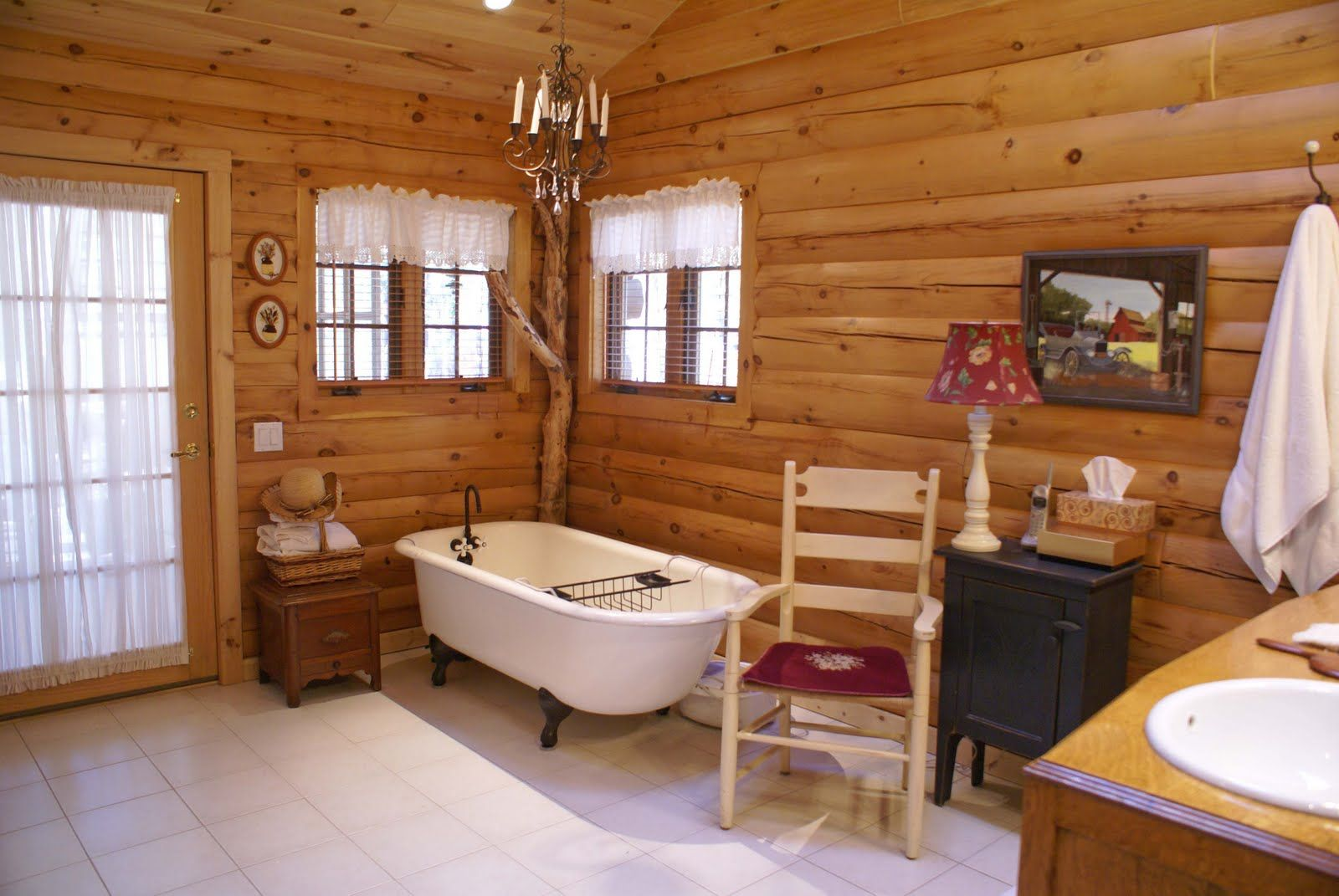 Home interiors bathroom - Cabin Interior Design