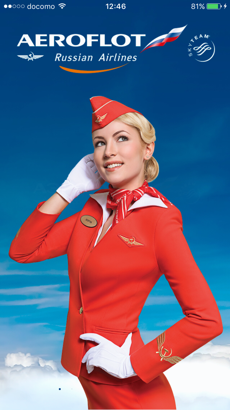 Aeroflot Russian Airlines Cool Flight attendant