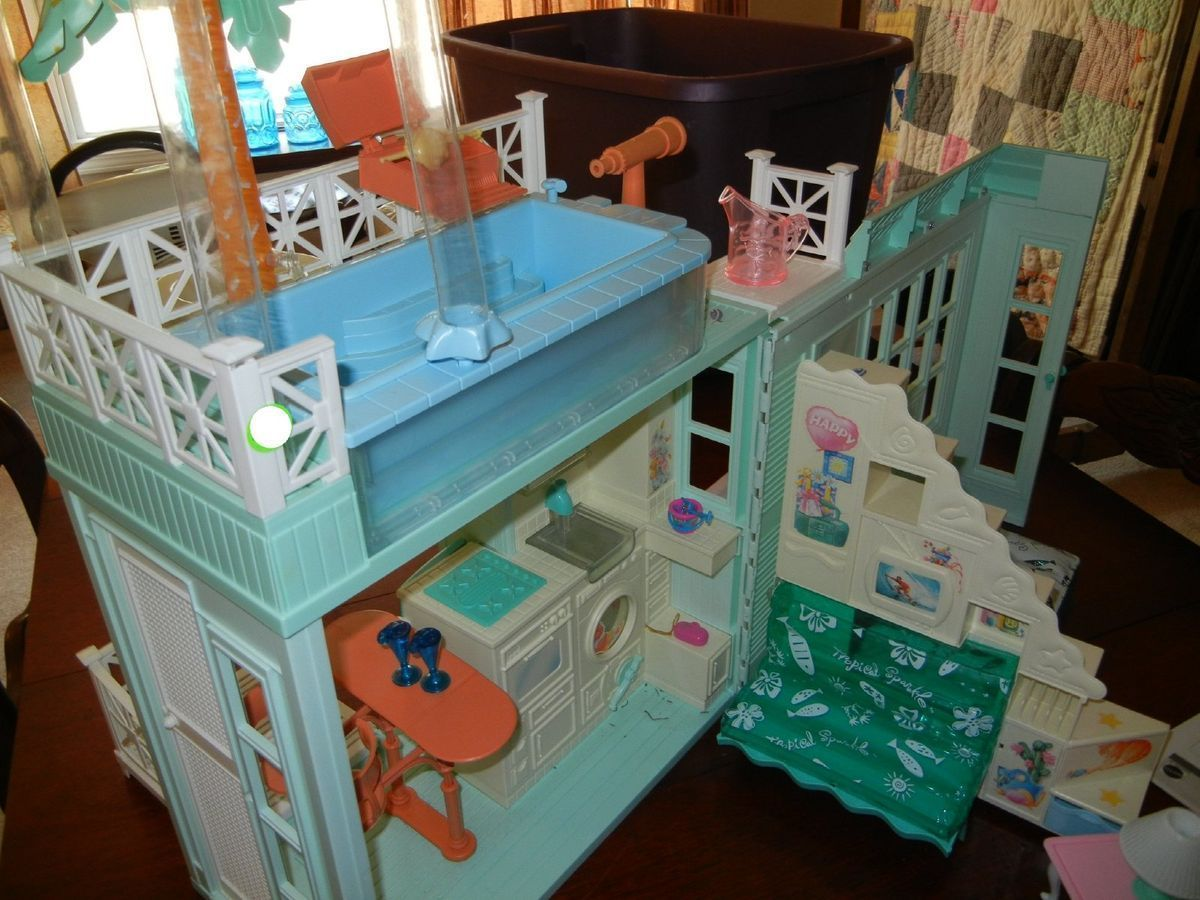 Barbie beach house i had this cute or funny pinterest barbie house bear doll for Barbie doll house with swimming pool