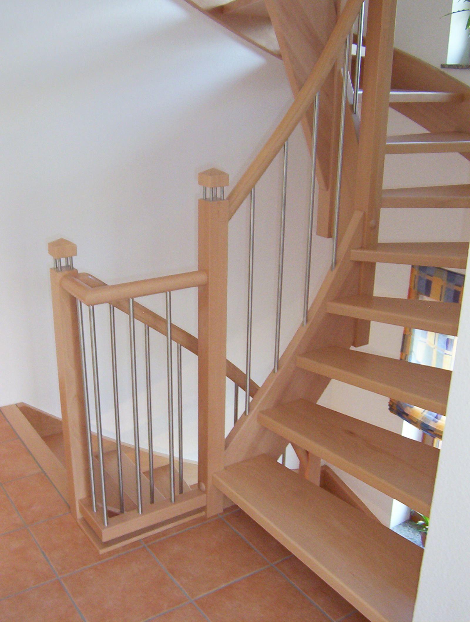 tischlerei neumann treppe aus buche mit edelstahl kombiniert treppen sicherheit auf jeder. Black Bedroom Furniture Sets. Home Design Ideas