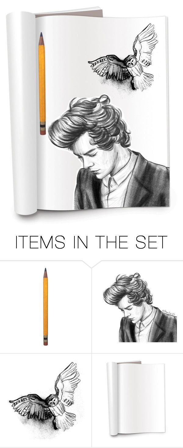 """""""styles with potter's owl"""" by kinuholmes ❤ liked on Polyvore featuring art"""