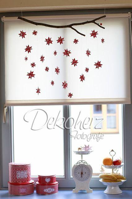 fr belsterne an einem ast weihnachten basteln pinterest ast weihnachten und fensterdeko. Black Bedroom Furniture Sets. Home Design Ideas