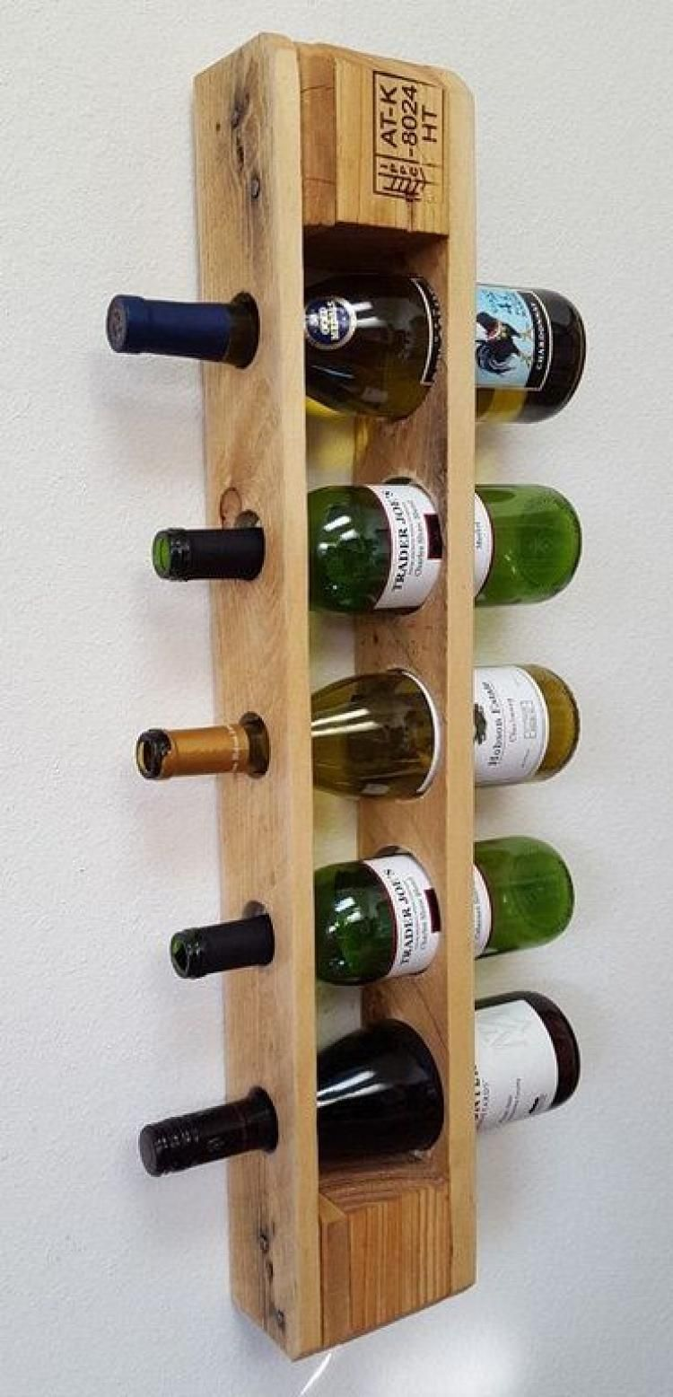Unique Diy Pallet Wine Rack Ideas Etageres A Bouteilles De Vin Palette Diy Et Casier Vin