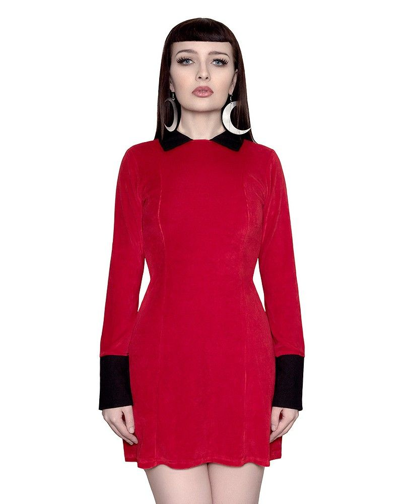 0fee5817a4 Bathory Red Velvet Dress