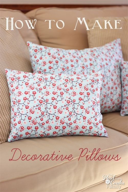 How To Make Decorative Pillows Sewing