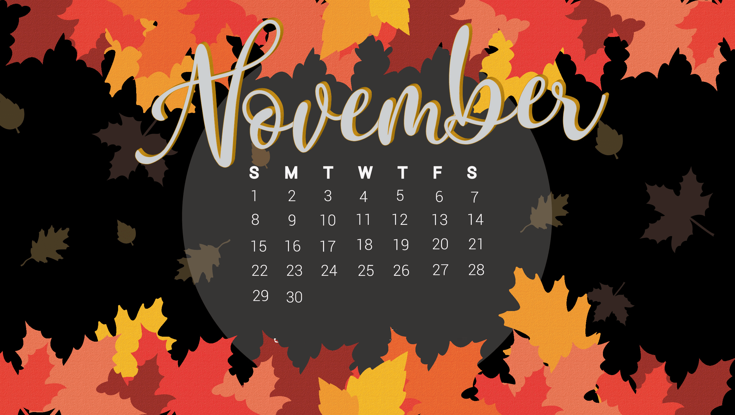 Floral November 2020 Desktop Wallpaper in 2020 Calendar