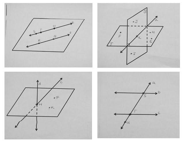 Geometry Activity On Point Line Graph Definitions